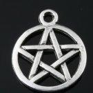 500pcs mini Brass star of david gothic jewelry Charm CM727