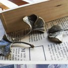 Lot of 100pcs lotus Leaf dollhouse miniature toy/jewelry bracelet  metal alloy Charm CM689