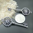 Lot of 100pcs mini silver Key dollhouse miniature toy/jewelry Charm CM1012