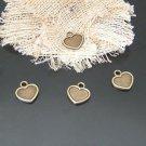 Lot of 400pcs mini brass love star heart dollhouse miniature toy/jewelry Charm CM587