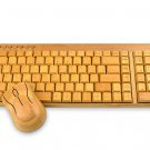 Artis Handmade Bamboo Wooden PC Wireless Keyboard and Mouse - Compact Version