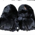 Adult Plush Monster PIG Foot Paw Animal Claw Slipper party black SH016