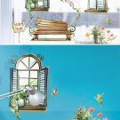 Window Decals on Wall Stickers Home Decoration Decor Vinyl Removable Mural Art ST004