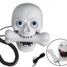 Corded Unique Decorative halloween creepy cross bone skull Telephone TL009