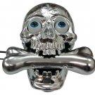 Corded Unique Decorative halloween creepy cross bone skull Telephone silver TL010