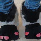 Adult Plush Monster Donkey Foot Paw Animal Claw Slipper party shoe SH032