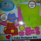 ONE New Kit Box of GIRL GOURMET 12 PC. CAKE DESIGNER KIT