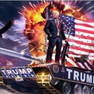 New, Rare 3x5ft 2016 President Donald Trump on the tank digital printing flag
