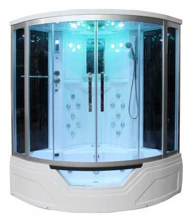 """59"""" Eagle Bath WS-703 Steam Shower Sauna Enclosures w/ Whirlpool Bathtub Combo Unit"""