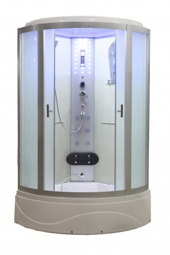 "42"" Eagle Bath WS-902L-42 Steam Shower Enclosure w/TUB (Frosted Glass)"