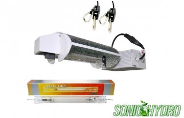 Sonic Hydro 1000W Dimmable DE Lamp Grow Light 3-mode Adjustable Reflector w/Ballast 240V-Set (White)