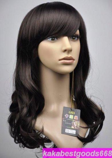 Woman Long Dark Brown Cosplay Party Hair Wigs Wig WL41