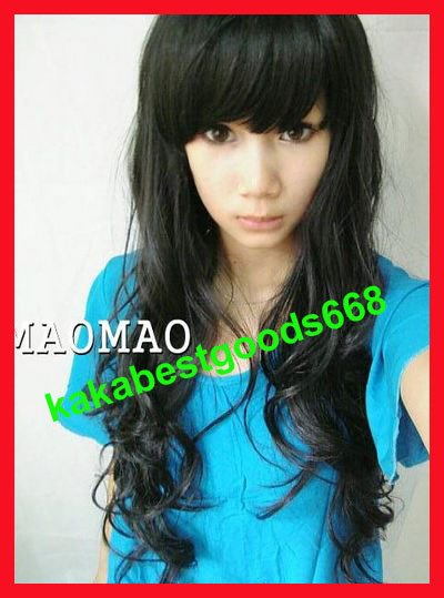 Long Wave Cosplay Everyday Full Wigs With One Cap WL13