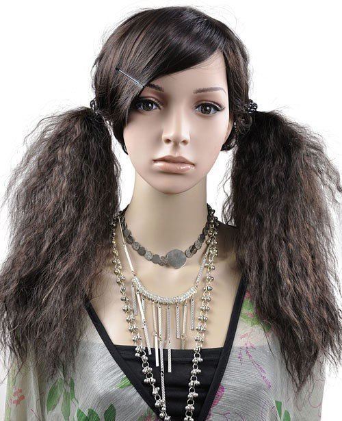 LONG CORN SILK WAVE COSPLAY PARTY HAIR FULL WIGS WL55