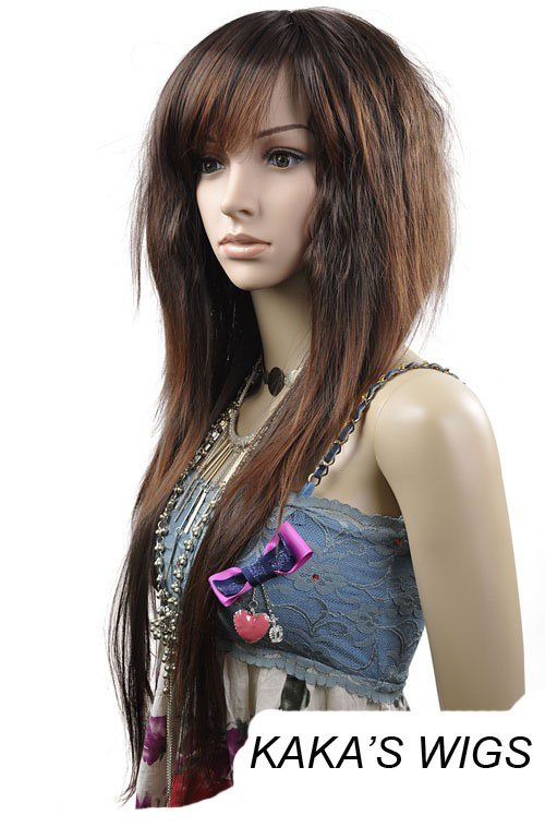 LONG STRAIGHT COSPLAY EVERYDAY HAIR FULL WIGS WL62