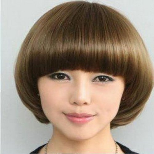 Woman Short  Straight Fashion  Wigs With Wig Cap WD17