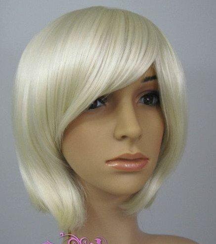NEW WOMEN SHORT WHITE CosplayHair Wigs WD23