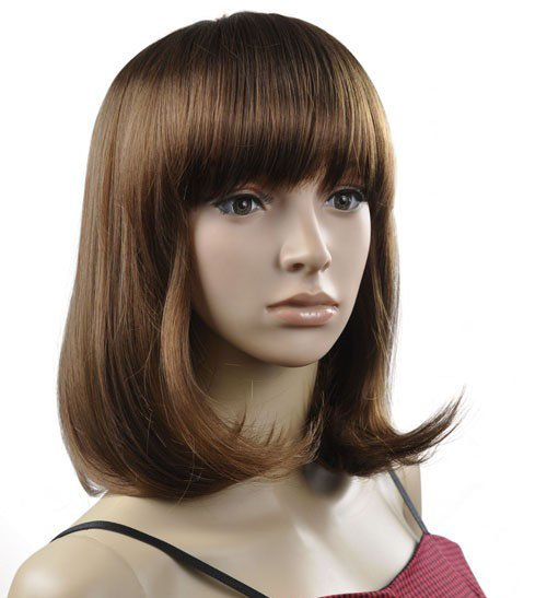 Lady Straight Cosplay Everyday Full Wigs With One Cap WD40