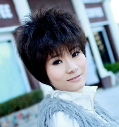 Dark Brown Short Wave Cosplay Party Hair Full wigs WD46