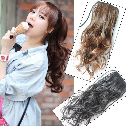 Girl's Hairpiece Long Wavy Ponytail Pony wig Hair Extensions PP03