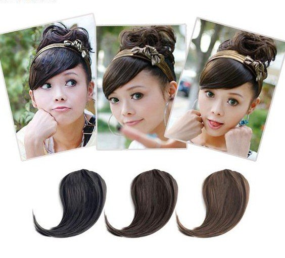 Girl's Hairpiece Clip-on Bang Fringe Wigs Extensions PP13