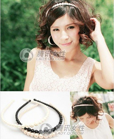 49Pcs Lady Woman Artificial Genuine Pearls Hair Band For Hair PP39