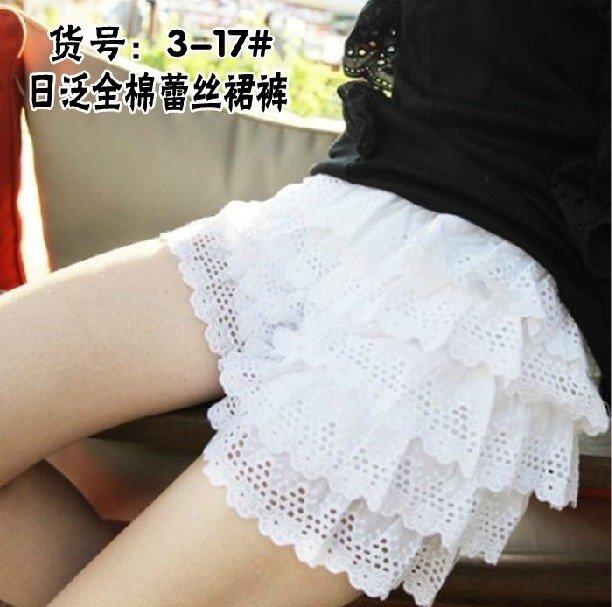 Render Cotton Skirts Pants Lace Trousers Skirt Leggings T23