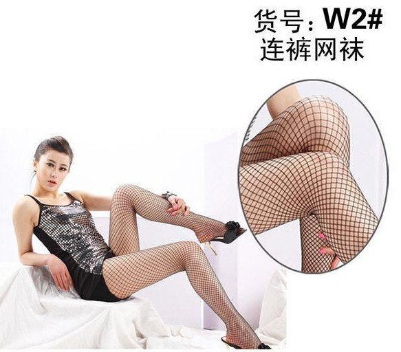 Lady Black Grid Fishnet Stockings Pantyhose Pierced Stockings T16