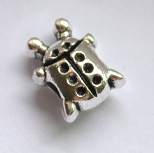 5pcs Ladybird Spacer Charm Beads Fits Bracelet Chain P156