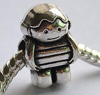5pcs Astronaut Spacer Charm Beads Fits Bracelet Chain P162