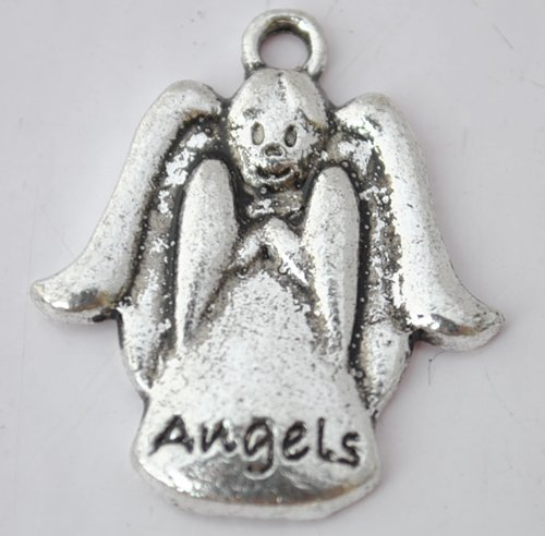 20Pcs Silver Alloy Angels Beads Charm Fits Bracelet P193