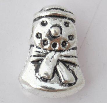 20Pcs Silver Alloy Snowman Beads Charm Fits Bracelet P196