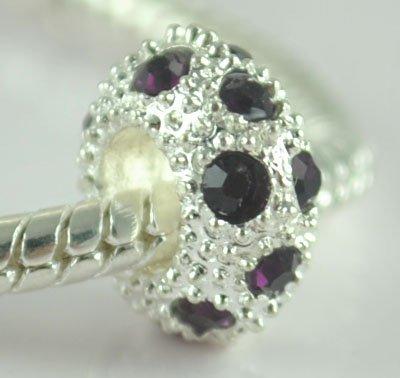 5PCS Rhinestone Beads Charm Fits Bracelet P199