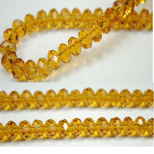 100pcs Faceted Glass Crystal Jonquil Beads 6mm Fits Bracelet C01