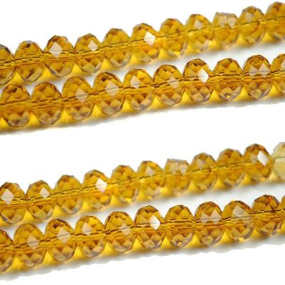72pcs Faceted Glass Crystal Jonquil Beads 8mm Fits Bracelet C15