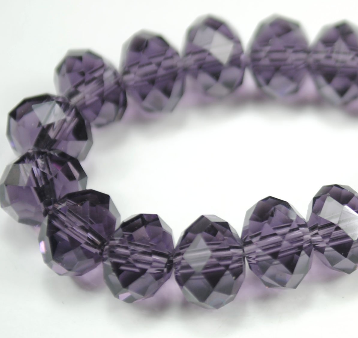 72pcs Faceted Glass Crystal Purple Beads 8mm Fits Bracelet C19