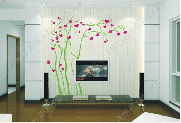 DIY Wall Art Deco Vinyl Decal Sticker Heart leave Trees WB20