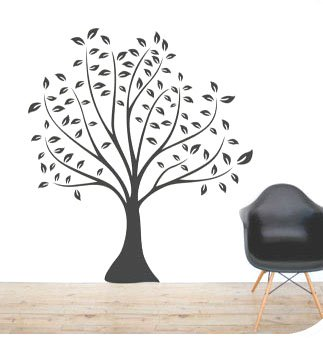 DIY Removable Wall Art Deco Decal Sticker LINDEN TREEWB25