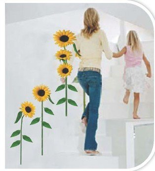 DIY Removable Wall Art Deco Decal Stickers Sunflower WB41