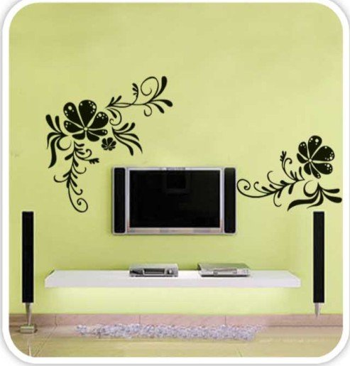DIY Removable Wall Art Deco Decal Stickers Flower WB57