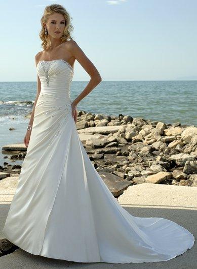 Free Shipping!!Elegant Strapless/A-Line/birdal dress/YY015