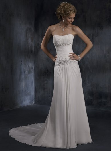 Free Shipping !!New designs Strapless/A-Line/Wedding Gown/YY018
