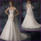 Concise Cap/Sleeves/A-Line/wedding gowns YY027