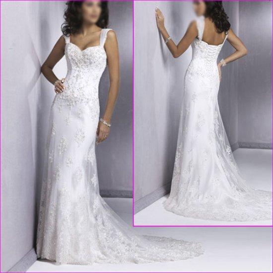 2010 New styles Spaghetti Strap/A-line/Wedding Dress/YY031