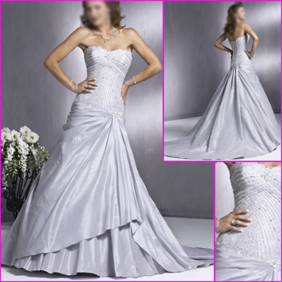 Elegant Strapless/A-Line/Taffeta/wedding dress/wedding gown/YY041