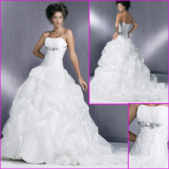 2010 New Style Strapless/A-line/wedding dress/YY042