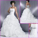2010 New Style Strapless/A-line/wedding dress/YY042