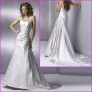 Free Shipping!!Engaging Halter/Satin/A-Line/wedding dress/YY055
