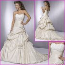 Engaging Strapless/A-Line/Taffeta/wedding dress/YY057