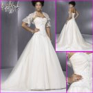 Free shipping!!Elegant/Strapless/A-Line/Satin&Organza/wedding dress YY066